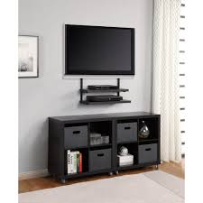 Shelves On Wall by Nice Grey Wall Black Ikea Tv Stand And Mount That Can Be Decor