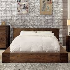 Low Profile Bed Frame King Furniture Of America Cm7628 Low Profile Bed