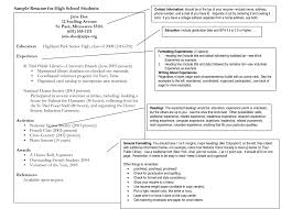 Best Resume Header F by High Student Resume Examples Best 25 High Resume Ideas On