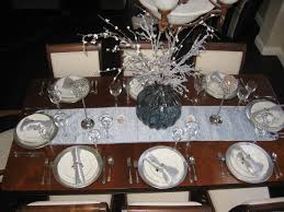 Blue Silver Dining Table Decor Christmas Table Setting In Ice - Design a table setting