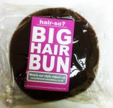 big bun hair hair so 6 inches wide big hair bun