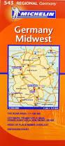 Wiesbaden Germany Map by Michelin Map Germany Midwest 543 Maps Regional Michelin