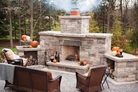 Stacked Stone Outdoor Fireplace - marvelous decoration build your own outdoor fireplace agreeable
