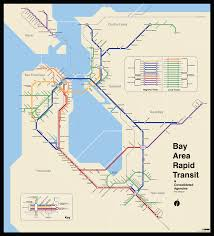 San Francisco Transportation Map bay area 2050 the bart metro map u2013 future travel