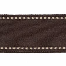 brown ribbon 1 1 2 grosgrain stitched edge ribbon brown ivory discount