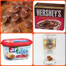snickers candy bar pudding shots 1 small pkg hershey u0027s dark