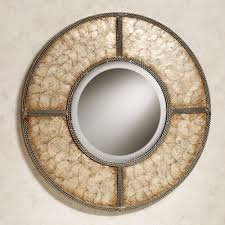 Circle Wall Mirrors Capiz Shell Round Metal Wall Mirror
