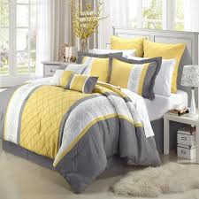 yellow bedding ease with style chic home embroidery