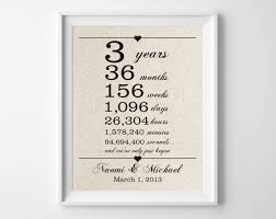 wedding gift stores near me 3 years together cotton anniversary print 3rd anniversary