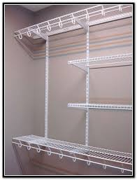 rubbermaid closet organizer parts affordable wire shelving with