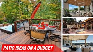 Patio Ideas For Backyard On A Budget by Amazing Patio Ideas On A Budget Youtube