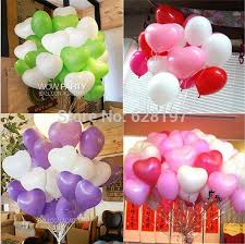 Valentine S Day Wedding Supplies by Lots 100pcs 10 U0027 U00271 5g Heart Shape Latex Pearl Balloons Party Decor