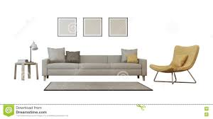 Livingroom Set Living Room Set Isolated On White Background Stock Illustration