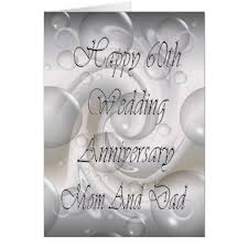 60th wedding anniversary greetings 60th wedding anniversary for and card zazzle