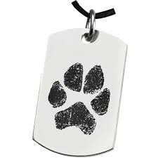 remembrance dog tags stainless steel dog tag paw print pet memorial jewelry