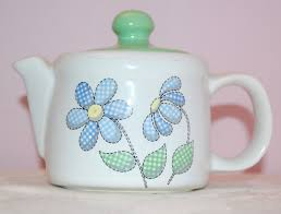 Ideas Design For Teapot L Mccoy Teapot With Lid Antique Green Leaf Or Cabbage Design