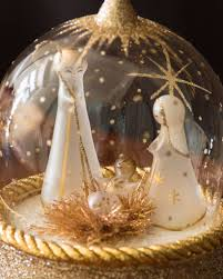 musical starry night nativity in globe balsam hill