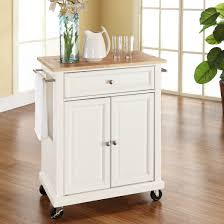 incredible real simple rolling kitchen island in white and shop