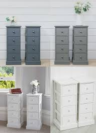 bedroom table ls set of 2 4 drawer pair slim tall bedside tables white grey graphite bedroom