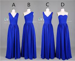 wedding dresses for of honor 2015 custom made royal blue chiffon bridesmaid dress