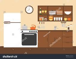 modern kitchen ware kitchen kitchen interior design modern kitchen stock vector