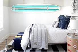 gray kids headboard with blue nightstand transitional boy u0027s room