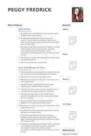Auditor Resume Sample Night Auditor Duties Hotel Night Auditor And Bookkeeping Clerk