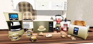 Microwave And Toaster Set Second Life Marketplace Kitchen Appliances Set Microwave Blender