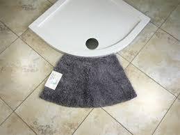 Curved Bath Mat Microfibre Non Slip Medium Curved Shower Mat