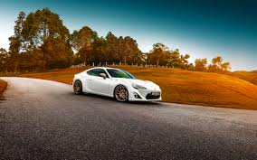 hd background toyota gt 86 white color grass sunset car wallpaper