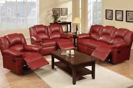 Living Room Furniture For Less Grenoble Bonded Leather Reclining Living Room Set F6671 72 73 74