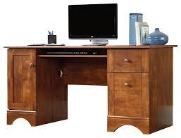 Menards Computer Desk Office Desk Sauder Computer Desks In Brushed Maple Transitional