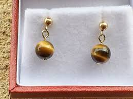 9 carat gold earrings tigers eye gold earrings 9 carat gold vintage ebay
