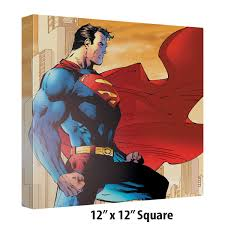 superman city watch art canvas wall decor retroplanet com