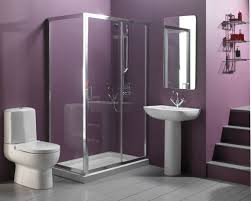 Pedestal Sink Bathroom Design Ideas Intriguing Bath Wall Palette In Purple Accent Fit Well With White