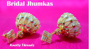 how to make stunning silk thread bridal jhumkas at home tutorial