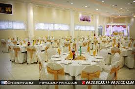 thã me de mariage présentation de la décoration couleur doré de la salle elysée mariage