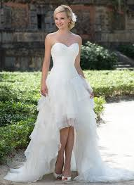 wedding dresses high front low back wedding dress in the front in the back