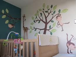 Tree Nursery Wall Decal Monkey Giraffe Tree Nursery Jungle Wall Stickers Co Uk