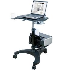 aidata portable laptop desk with printer tray in computer and