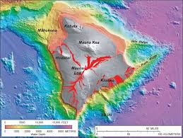 Map Of Hawaii Islands Written In Stone Seen Through My Lens Flying The Geology Of The