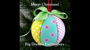 christmas craft tutorial fabric covered polystyrene balls youtube