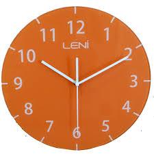 buy leni rainbow glass wall clock orange online purely wall clocks
