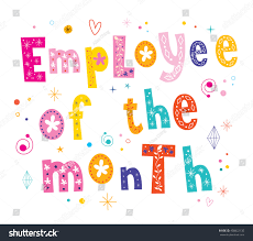 employee month banner decorative lettering text stock vector