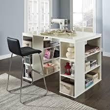 Work Table Desk Hudson 16 Cube Shelf With Desk Gray Hayneedle