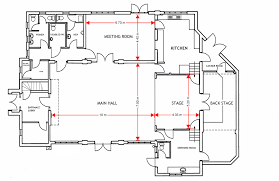 dimensioned floor plan dimensioned ground floor plan ottershaw village hall