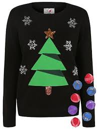 christmas tree jumper with lights christmas tree jumper with baubles women george