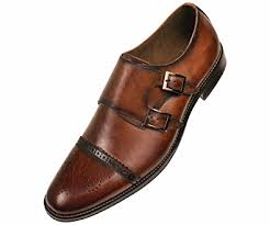 light brown monk strap shoes amazon com asher green mens brown genuine leather classic double