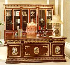 Real Wood Rocking Chairs Classy Office Furniture French Rococo Solid Wood Gold Leaf Desk