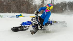 snow motocross bike timbersled snow bikecross from setup to race getting the holeshot